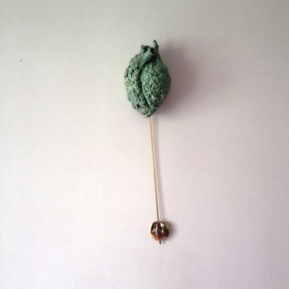 3 Pendelwerke (Pendelwerk 2), 2015, 90cm, Keramik, Messing, Pendelwerk