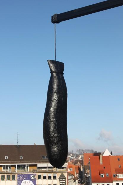 Großer Fisch, 2012, Länge Fisch:170cm, Epoxidharz